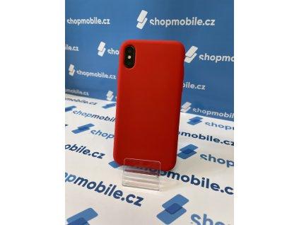 silikonový kryt pro iPhone X - červený